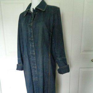 GAP vintage denim jeans coat trench jacket L